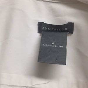 Ann Taylor Tops - Ann Taylor White Button Down Office Blouse